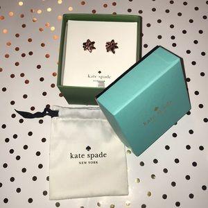 NWT! Kate Spade Rose Gold Bow earrings
